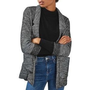 Topshop Gray Relaxed Knit Blazer